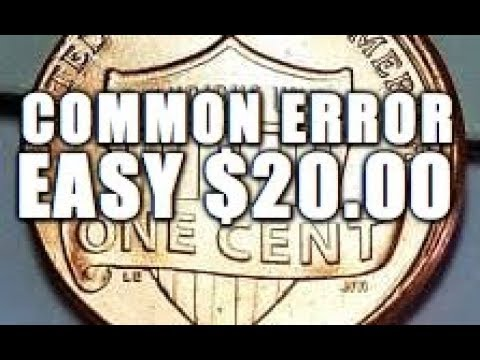 Make An Easy $20 00 For This Common 2017 P Cent Error!!! Coin Roll Hunting  Penny