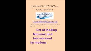 List of leading National and International Institutions( January 2014, By Anita Sharma)