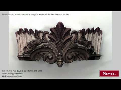 American Antique Valance Carving Federal Architectural