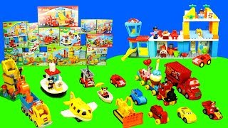 Lego Duplo House & Cars: Unboxing and Play with Toys for Kids   Mickey Mouse, Excavator & Trucks