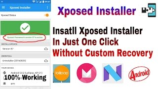 Gambar cover Install Xposed Installer || without custom recovery || Xposed Installer Framework Update || Hindi