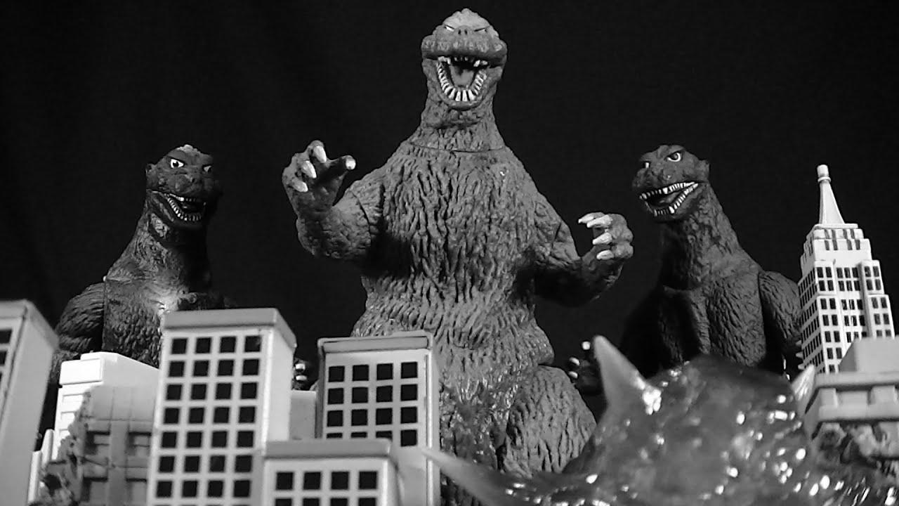 Godzilla 1954 Bandai Vinyl 3 Way Figure Review Youtube
