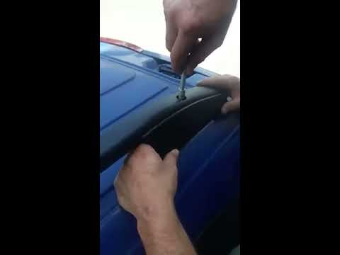 Mercedes Metris Top Roof Rack Rails Installation Video