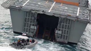 フリーダム級沿海域戦闘艦の後部ウェルドック(ドック式格納庫)