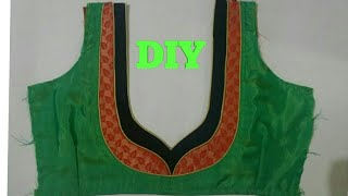 easy design blouse cutting and stitching at home 2017