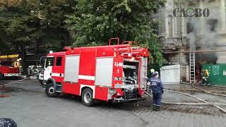 Пожар в доме Русова Одесса 30 09 2017