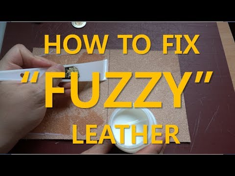 "How to finish ""FUZZY"" side of vegetable tan leather"