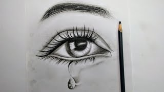 HOW TO DRAW EYE BY CHARCOAL | CHARCOAL DRAWING TUTORIAL | RAINBOW ART BY RADHAPADA MANNA