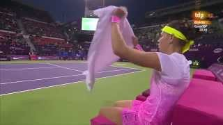 Safarova-Suarez Navarro Highlights Qatar Total Open 2015 Doha