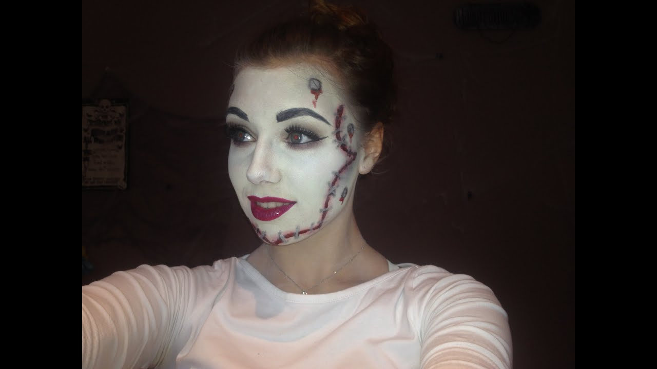 bride of frankenstein halloween makeup tutorial youtube