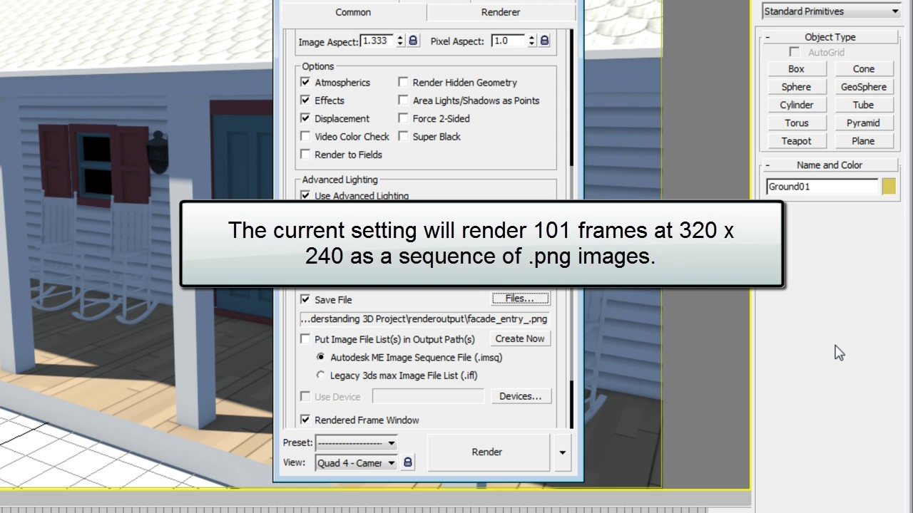 Rendering Sequential Images 3ds Max Rendering Youtube