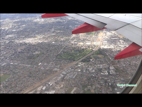 Flying Boeing 737-800 from Denver to Los Angeles - Awesome view from the window