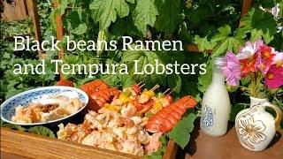 Cách nấu Mì Tương Đen Hàn Quốc với đuôi Tôm Hùm ( How to cook Black bean Korean Ramen and Lobster )