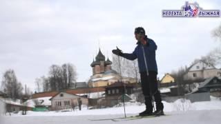 видео Учимся ходить на лыжах