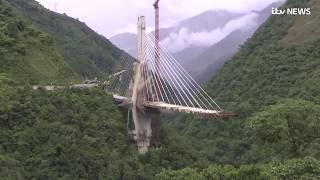 Colombia detonates huge bridge before it opens