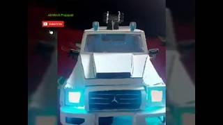 Cardboard made Mercedes G wagon AMG homemade.