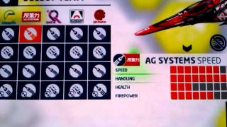wipeout 2048 the ships