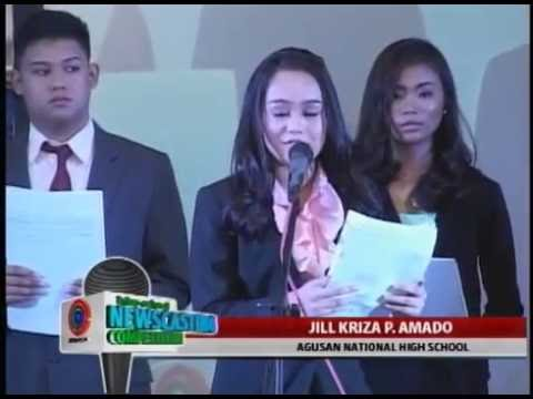 ABS-CBN BUTUAN INTER SCHOOL NEWSCASTING 2015 PART 1