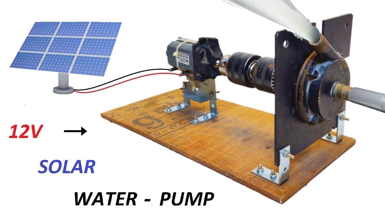 Make 12V Solar Panel Water Pump using Power Window DC Motor - पावर विंडो डीसी मोटर से 12V सोलर पंप
