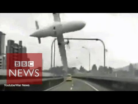 TransAsia: Moment plane crashes in Taipei