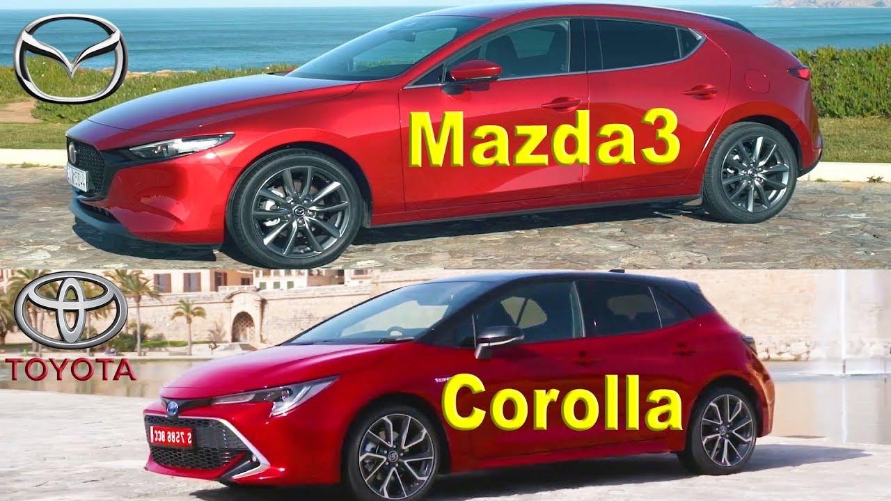 2019 mazda3 hatchback vs 2019 toyota corolla hatchback