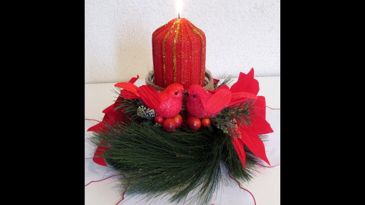 Hecho en casa centro de mesa navide o silvana cocina y - Centros de mesa navidenos hechos a mano ...