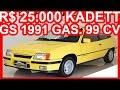 PASTORE R$ 25.000 Chevrolet Kadett GS 1991 Amarelo Milano MT5 2.0 Gasolina 99 cv 16,2 kgfm #KADETT