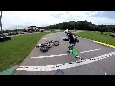 Supermotos at VIR Karting Track