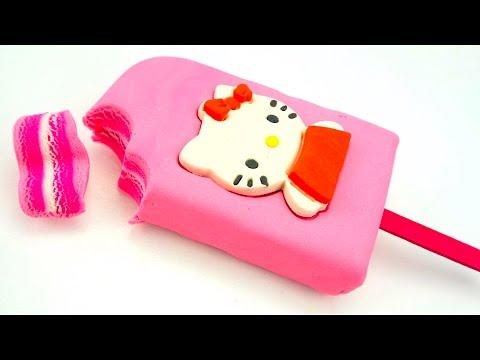 Пластилин для детей, лепим мороженое Беллоу Китти  Учимся лепить из пластилина  Игрушкин ТВ