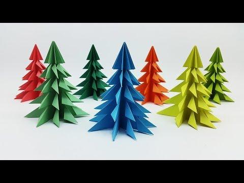 3D Paper Christmas Tree Making Tutorial - How to make Xmas Tree - DIY Christmas Crafts