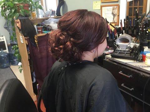 Curly Bun Updo Prom Hair Tutorial