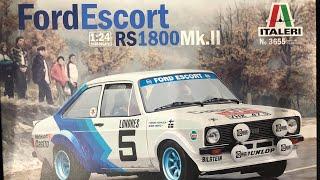 1:24th italeri escort Mk2 RS 1800 part four