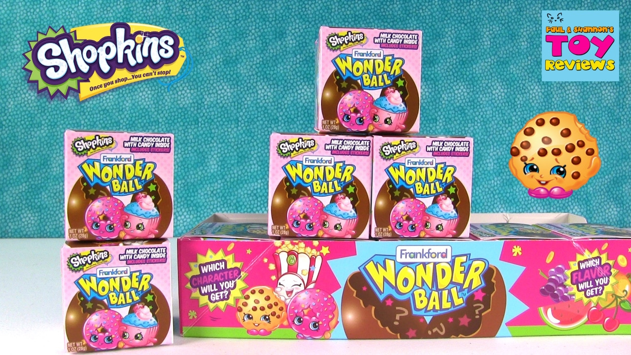 Shopkins Wonder Ball Chocolate Candy Surprise Opening Pstoyreviews