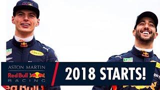 The 2018 F1 season starts here! | Daniel Ricciardo and Max Verstappen are ready to race