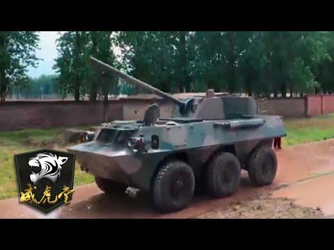 中国120轮式迫击炮让外