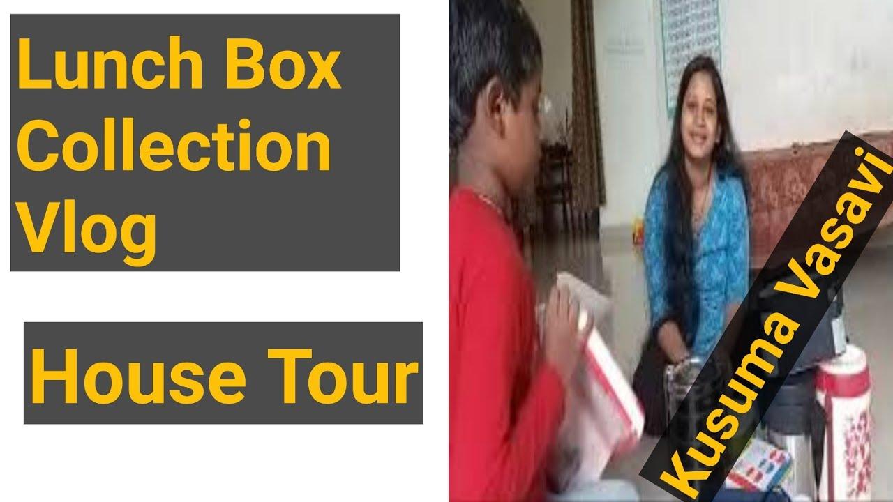 Kusuma Vasavi Telugu Vlogs – Lunch Box Collection At My Home Telugu ammayi