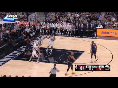 LeBron James Injury Cavaliers vs Spurs 27 March, 2017  2016-17 NBA Season