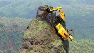 Idiotas peligrosos, la mayor habilidad de operador de excavadora trepadora, las excavadoras fracasan