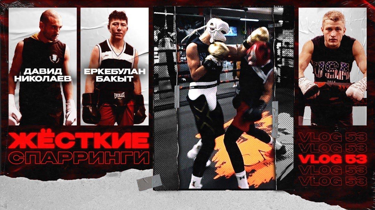 Жесткие спарринги! Давид Николаев и Еркебулан Бакыт. Профессиональный бокс. Братья Воробьевы.