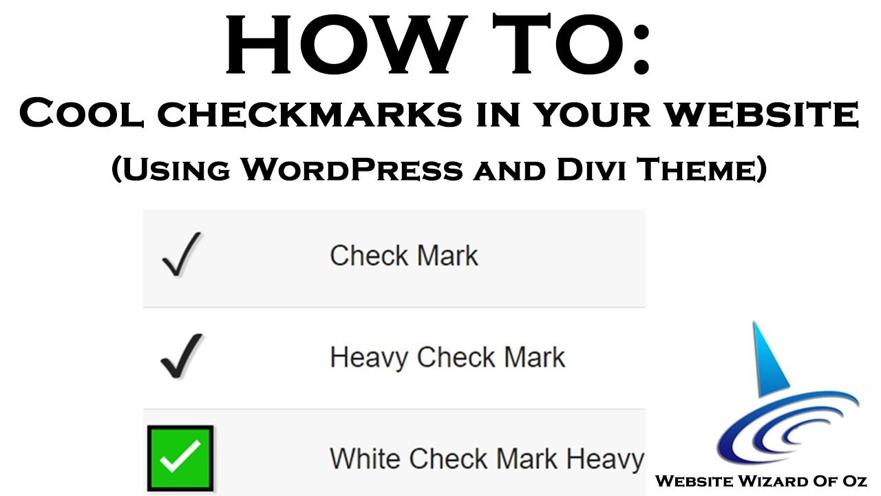 Wordpress Divi How To Add Checkmarks To Your Bullet List Youtube