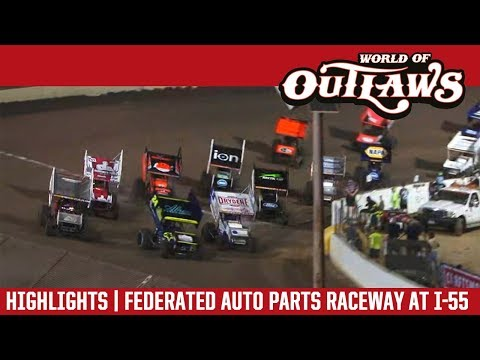 World of Outlaws Craftsman Sprint Cars Federated Auto Parts Raceway August 3, 2018 | HIGHLIGHTS