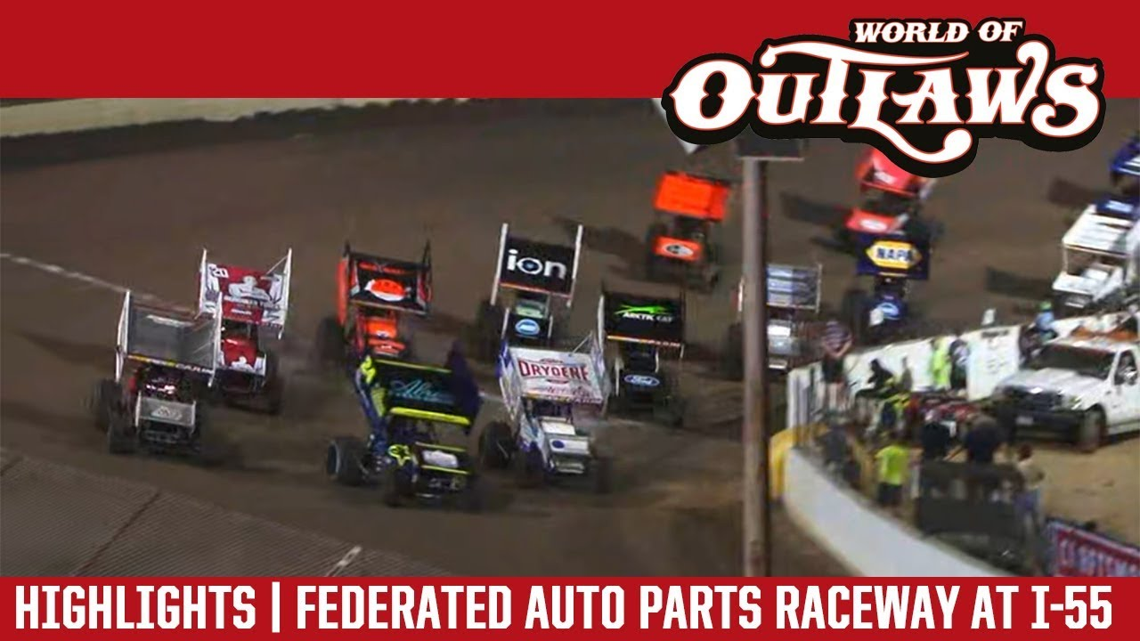 world-of-outlaws-craftsman-sprint-cars-federated-auto-parts-raceway-august-3-2018-highlights