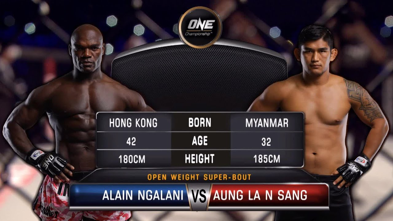 Aung La N Sang vs. Alain Ngalani   Full Fight Replay