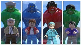 Hulk,Red Hulk(Transformation),Stenlee,A-Bomb(Transformation)- Lego Marvel Super Heroes Game