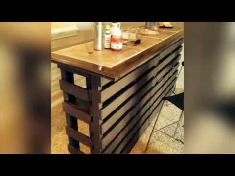 Parte 1 muebles hechos con pallets de madera youtube for Modelos de barcitos hecho en madera