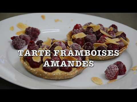 TARTE FRAMBOISE SANS MATIERE GRASSE. (frangipane)