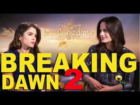 Elizabeth Reaser and Nikki Reed On Breaking Dawn 2