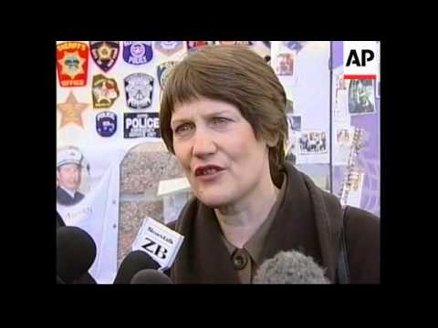 New Zealand PM Helen Clark visits Ground Zero