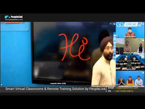 Virtual Smart Classroom Solution - How It Works ? Solution Offered By PeopleLink - Part 1