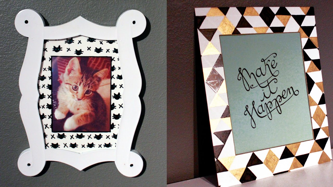 How To Make A Diy Patterned Picture Frame Mat Youtube